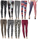 25 x Ladies Leggings  Mixed Pattern  Plain