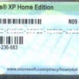 Windows XP Home License Sticker - Unregistered (30 Units)