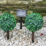 Solar Powered Small Bay Trees w/ White LEDs (24 Pairs)