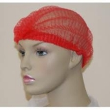 Job Lot Wholesale Red Mop Caps - Non Woven Double Elastic 70,000