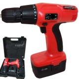 10 x 18v cordless drill driver with 2 batteries and storage cases