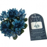 Colony Blue Flower Floral Rings (300 Units)