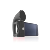 Bone Black Horn Stand And Speaker For iPhone 4 & 3GS