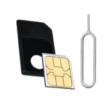 iPhone 4/4s iPad's Micro Sim Card Adaptor Convector & Eject Pin