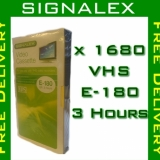 High Performance Signalex VHS E-180 3 Hours Video Tapes Cassette