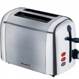 Breville 2 Slice Two Slot Toaster Brushed Steel Vtt281
