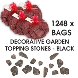 1248 Bags x Decorative Garden Topping Stones - Black