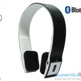Black/White Bluetooth 3.0 Wireless Headphones - Built-in Microphone