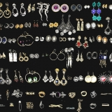 Mixed Ladies Jewellery Items Earrings  and Brooches (400 pieces)
