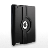 Multi-Function 360 Degrees Rotating Leather Stand Case for iPad