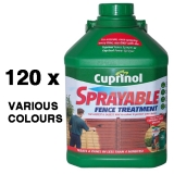 120 x Cuprinol Sprayable Fence Paint - Mixed Colours - No Labels!