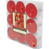 Wax Lyrical Strawberry Scented Tealight Candles Pack of 9 (48