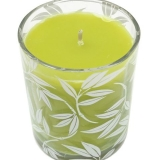 Colony Bamboo & Citronella Wax Filled Leaf Design Glass Candles
