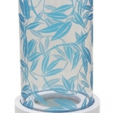 Colony Hurricane Blue Leaf Candle Holders (12 Units)