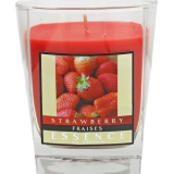 Colonial Strawberry Scented Wax Filled Glass Candles (32 Units)