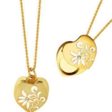 Art de France Gold Heart Swarovski Elements Necklace