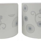 White Floral Design Tealight Holders in 2 Assorted Designs (72