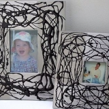 Aluminium And Black Enamel Photo Frame