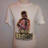 100 x TRADEMARK PRODUCTS - RAMBO 'First Blood' white Graphic